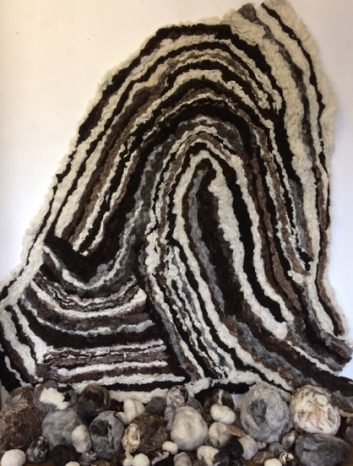 Bedrock (Felted fleece) 240x205x60cm 2017 e1