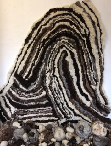 Bedrock (Felted fleece) 240x205x60cm 2017 e1