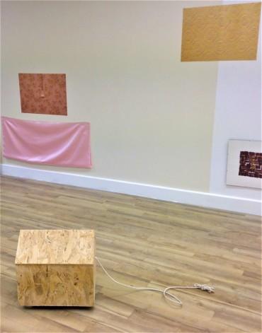 s e m i d e t a c h e d texture installation view Arcade Cardiff 2016